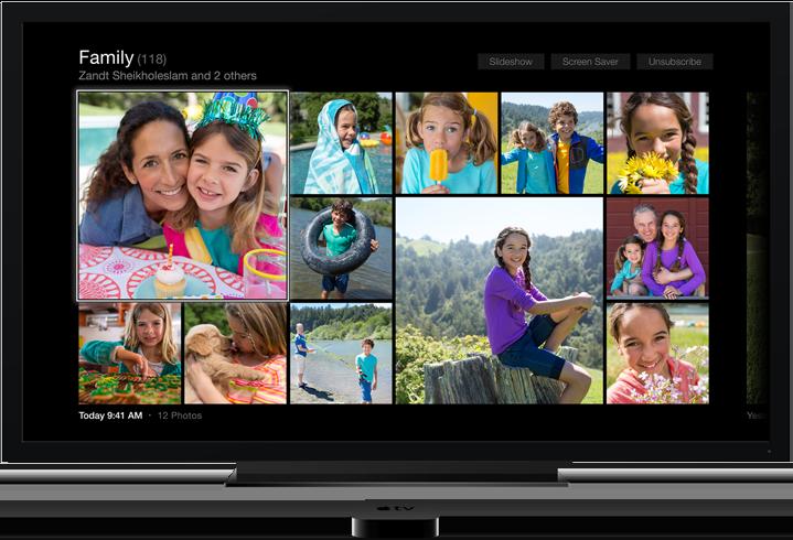 Ваши фото и видео по телевизору Apple TV