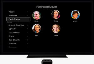 Семейный доступ Apple TV