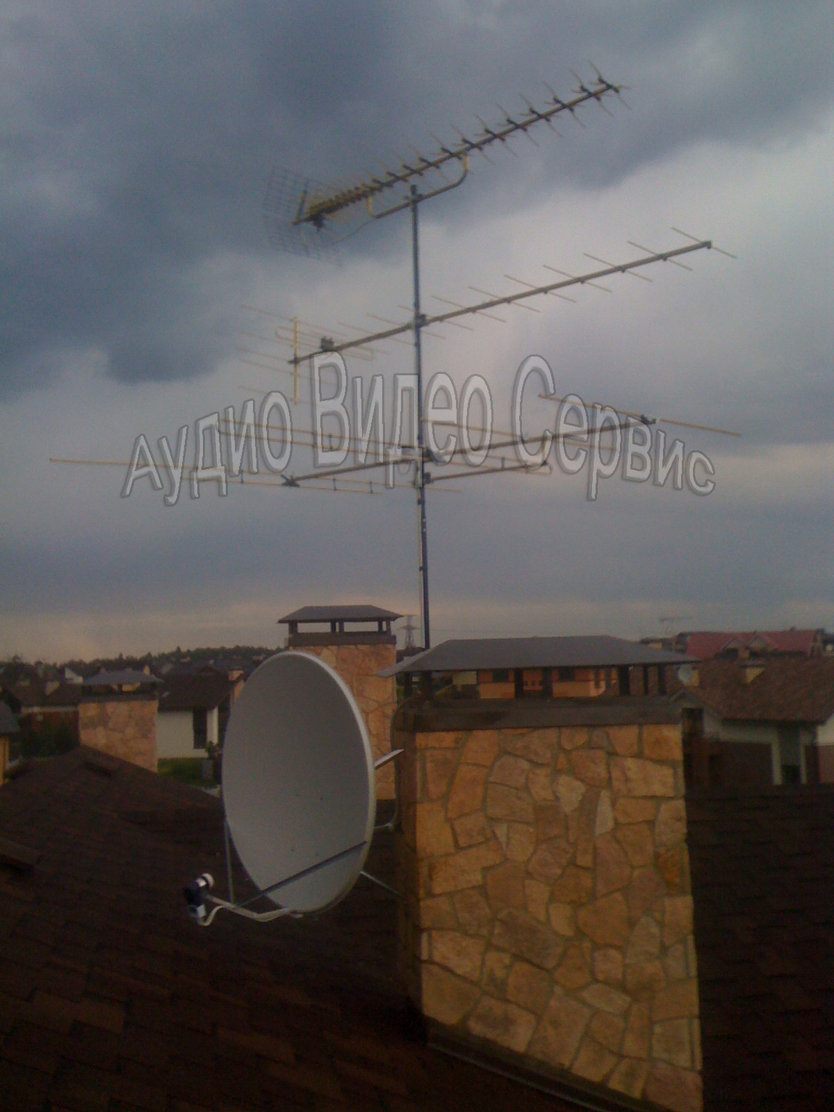 установка коллективной антенны